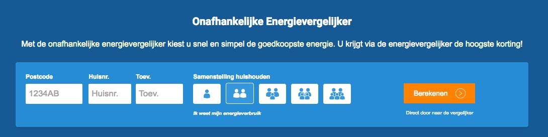 energie vergelijkingstool