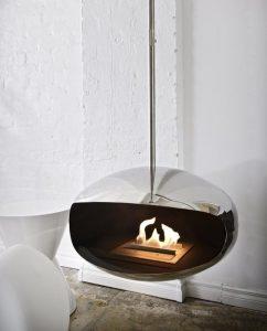 Een hangende haard Aeris Hanging Cocoon